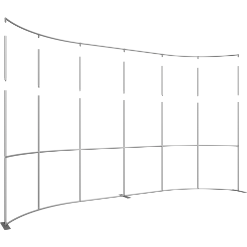 Formulate Master 20ft Horizontal Curve 10ft Tall Fabric Backwall